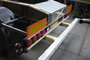 Tankbouw Tankaanhangwagen RVS stootbalk