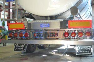 Tankbouw Tankaanhangwagen RVS bumper verlichting