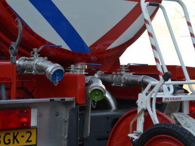 RVS watertank brandweer uitlopen